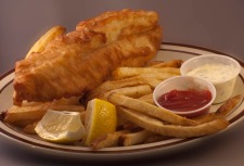 8 oz. Battered Fish with Fries