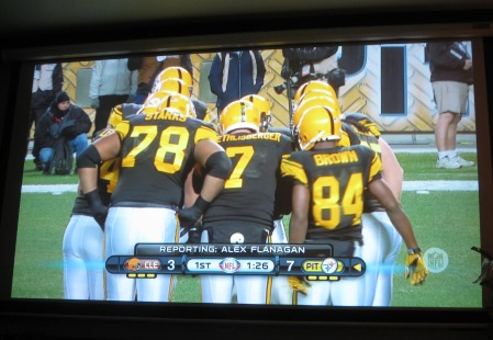 NFL Football on the bar Big Screen