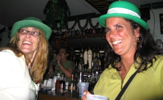 Tricia and Maria on St. Patricks Day
